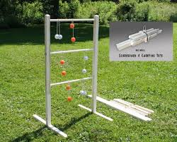 Wooden Ladder Ball Game Simple Wooden Ladder Ball Game Unpainted Ladderball Game Ladder Etsy