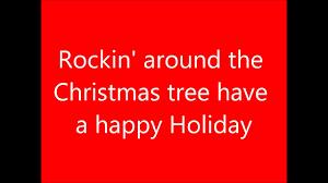 Christmas Program Theme Rockin Around The Christmas Tree Lyrics