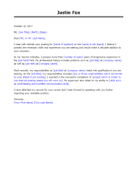 Get The Job With Free Professional Cover Letter Templates