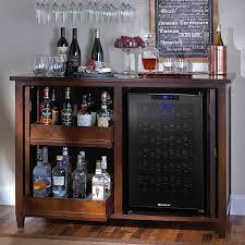 Firenze Mezzo Wine and Spirits Credenza with 28 Bottle Touchscreen Wine  Refrigerator