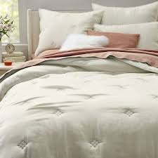 Washed Silk Quilt + Shams - Stone | west elm & Washed Silk Quilt + Shams - Stone Adamdwight.com