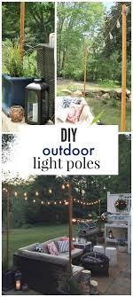 Designer Garden Lights Beauteous DIY Outdoor Light Poles Home Pinterest Outdoor Backyard And