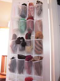 Or store your gloves and scarves in an actual shoe organizer.
