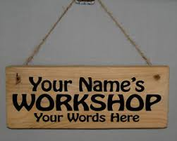 image is loading personalised name sign plaque work shed garden garage