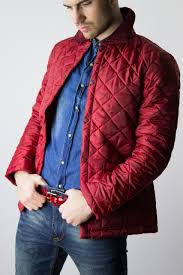 Red Quilted Jacket by Lavenham &  Adamdwight.com