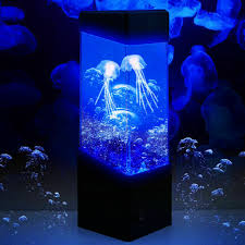 Led Jellyfish Mood Lamp Light Realistic Color Changing Water Aquarium Tank