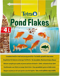 tetra pond flake complete and varied fish food for young and small pond fish