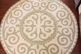 stunning round rug for kitchen