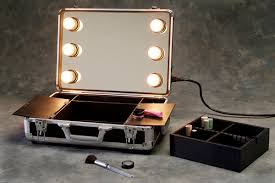 portable makeup mirror with lights. portable professional makeup station or mirror with lights m