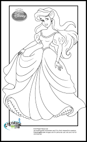 Small Picture Pretty Princess Mermaid Ariel Coloring Page H M Coloring Pages