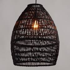 33 bright idea woven lamp shade black bamboo pendant world market uk wicker shades ball seagrass rattan wooden lampshade balsa wood of