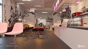 Small Ice Cream Shop Interior Design Yah Freelancers 3d
