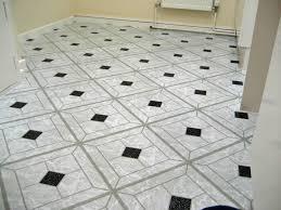 black and white checd vinyl flooring