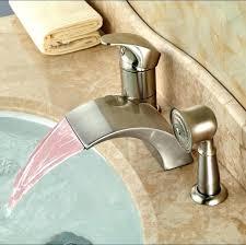waterfall bathtub faucet 3 hole bathtub faucets luxury led light widespread waterfall bathtub tub mixer taps