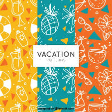 Colorful Patterns Awesome Colorful Patterns With Sketches Of Summer Elements Vector Free
