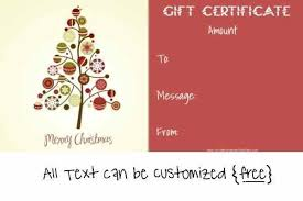 Christmas Blank Gift Certificate Template Free Estemplate Ml