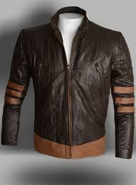 wrinkled brown x men origins wolverine leather jacket
