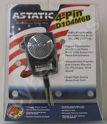 astatic d 104 microphones retail package astatic d104 m6b cb ham radio amplified power microphone 4pin mic