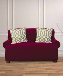 kashi home burgundy dublin popcorn furniture slipcover