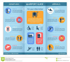 Of Business 39491724 Stock Board - Infographic Illustration Brochure Airport Information Vector