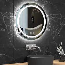 LUVODI Round Bathroom Mirror for ...