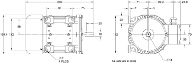aci pmcb040 ac industrial motors ac industrial motor aci pmcb040 dimensions