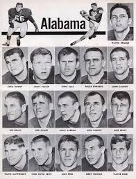 1966 Alabama Crimson Tide Roster From Alabama