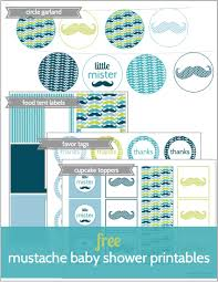 Mustache Themed Baby Shower  Shower Banners Baby Shower Themes Free Printable Mustache Baby Shower Games