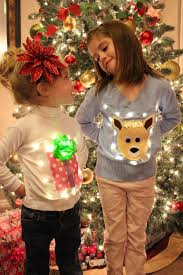 no sew ugly light up sweaters for kids