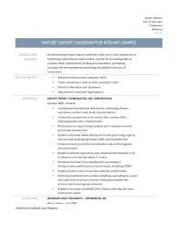 import export coordinator resume  vosvetenet