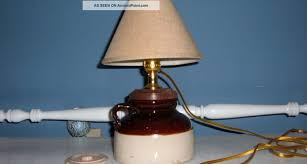 repurposed lighting. Antique Brown Cream Jug Repurposed Into Lamp Lamps Lighting