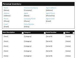 Personal Inventory 24 Free Inventory Templates For Excel And Word You Must Have