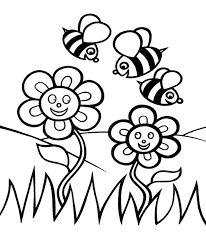 Bee Coloring Sheets Bee And Flower Coloring Pages Getcoloringpages
