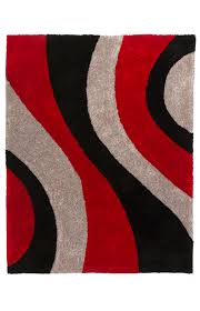 image for 96x120 black grey and red rug from brault martineau