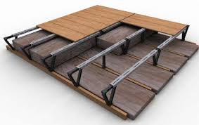 loft legs. loft flooring boards fitted onto a storefloor system invented by loftzone legs