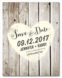Rustic Save The Date Cards On Recycled Paper Vintage Boards By