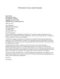 Pharmacist Cover Letter Application Letter Sample For Pharmacist Best Pharmacist Cover 5
