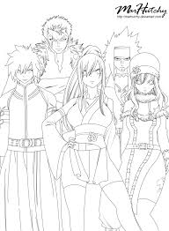 Small Picture Fairy Tail Characters Coloring Pages Coloring Pages
