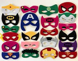 Mask Decorating Supplies Superhero mask Etsy 11