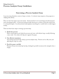 e process analysis essay guidelines pdf essays thesis