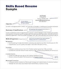 Skills In Resume Example Example Skill Based Cv Phpapp Thumbnail Skill Based Resume Examples