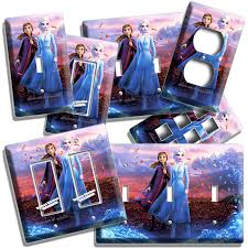 Frozen Light Switch Cover Frozen 2 Princess Anna Elsa Sisters Light Switch Outlet Wall Plate Room Decor