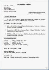 Gallery Of Data Entry Operator Resume Format Free Download