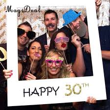 photo frame prop high quality happy booth paper selfie background for funny birthday wedding picture ideas