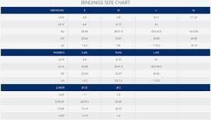 K2 Binding Size Chart Cassette