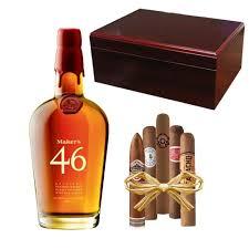 maker s mark 46 cherry executive humidor gift set