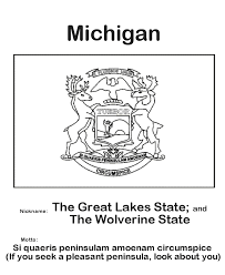 Usa Printables Michigan State Flag State Of Michigan Coloring Pages
