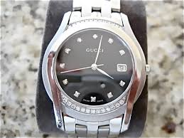 gucci mens diamond watch all original like new uploaded imageshack us