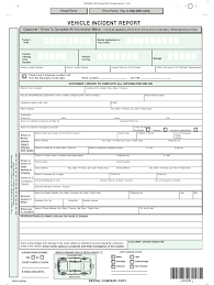 Vehicle Accident Report Template Fill Online Printable