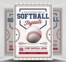 Free Baseball Flyer Template Softball Tryouts Flyer Template Flyerheroes